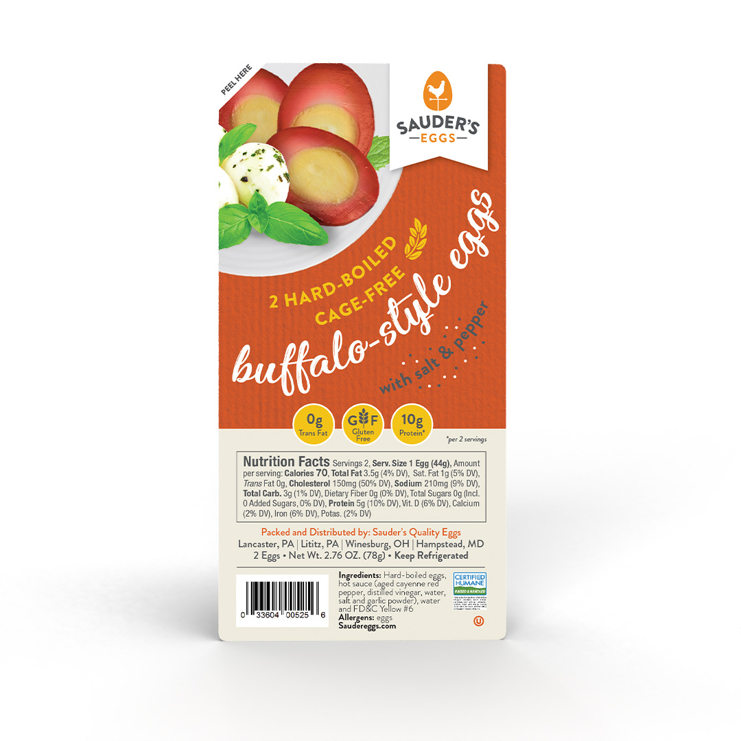 Sauder's Eggs Buffalo Hard-Boiled Eggs 2 pack