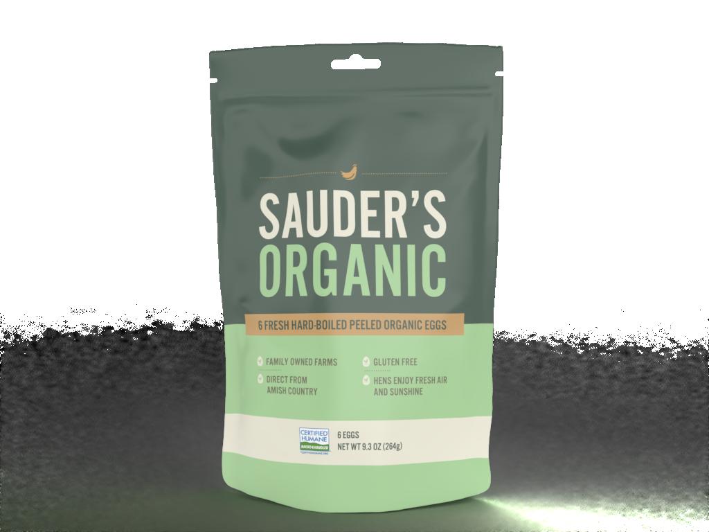 Sauder's Eggs organic hard-boiled eggs 6 pack