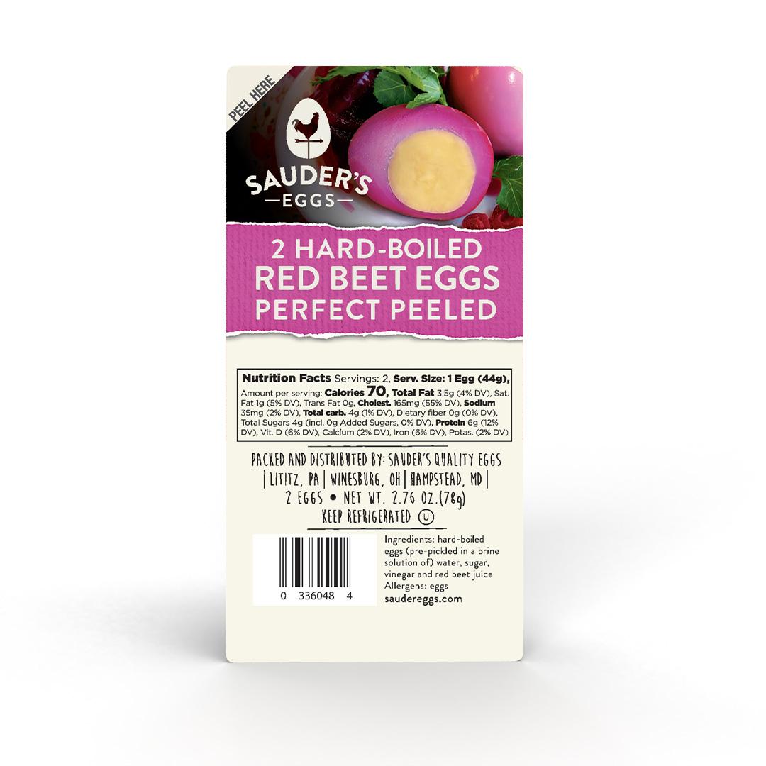 Sauder's Eggs Red Beet Hard-Boiled Eggs 2 pack