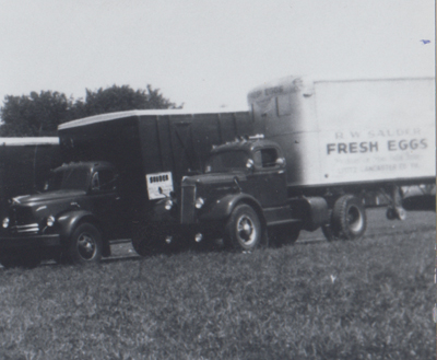 Sauder's Eggs original transportation trucks