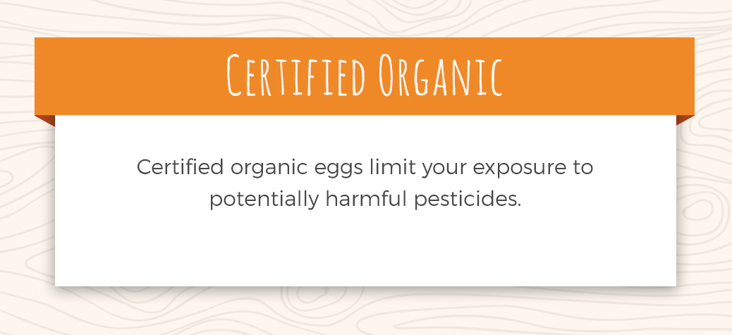 Description of Certified Organic Eggs