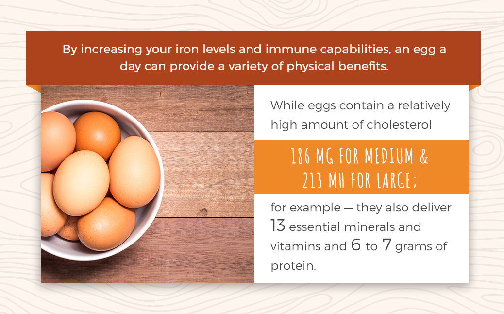 Physical Benefits When Consuming Eggs