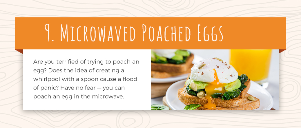 Poached Eggs Made with a Microwave