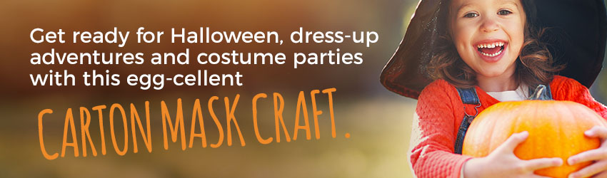 Create Halloween Costumes with Egg Cartons