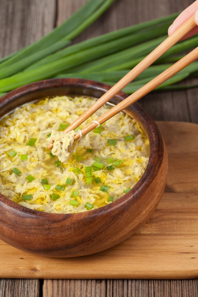 egg drop noodle soup