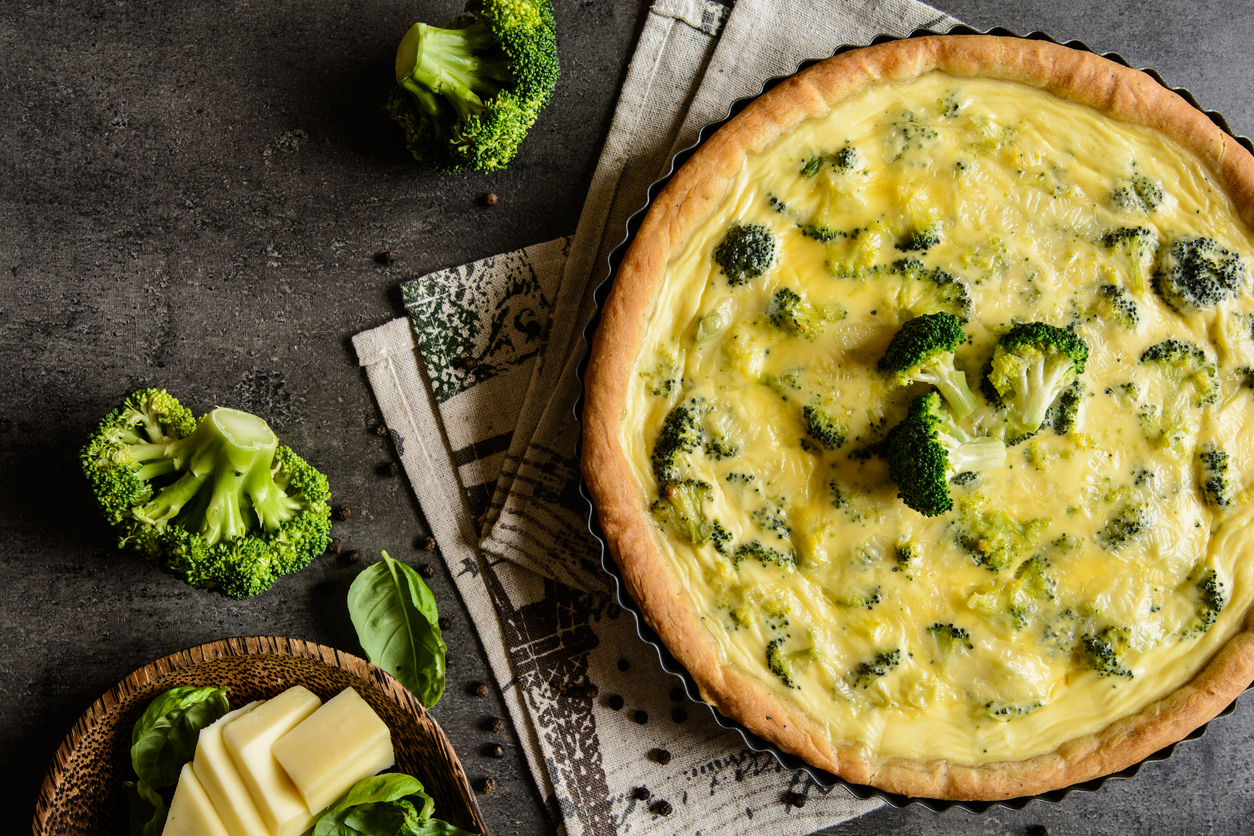 Vegetable Quiche with Broccoli and Cheese