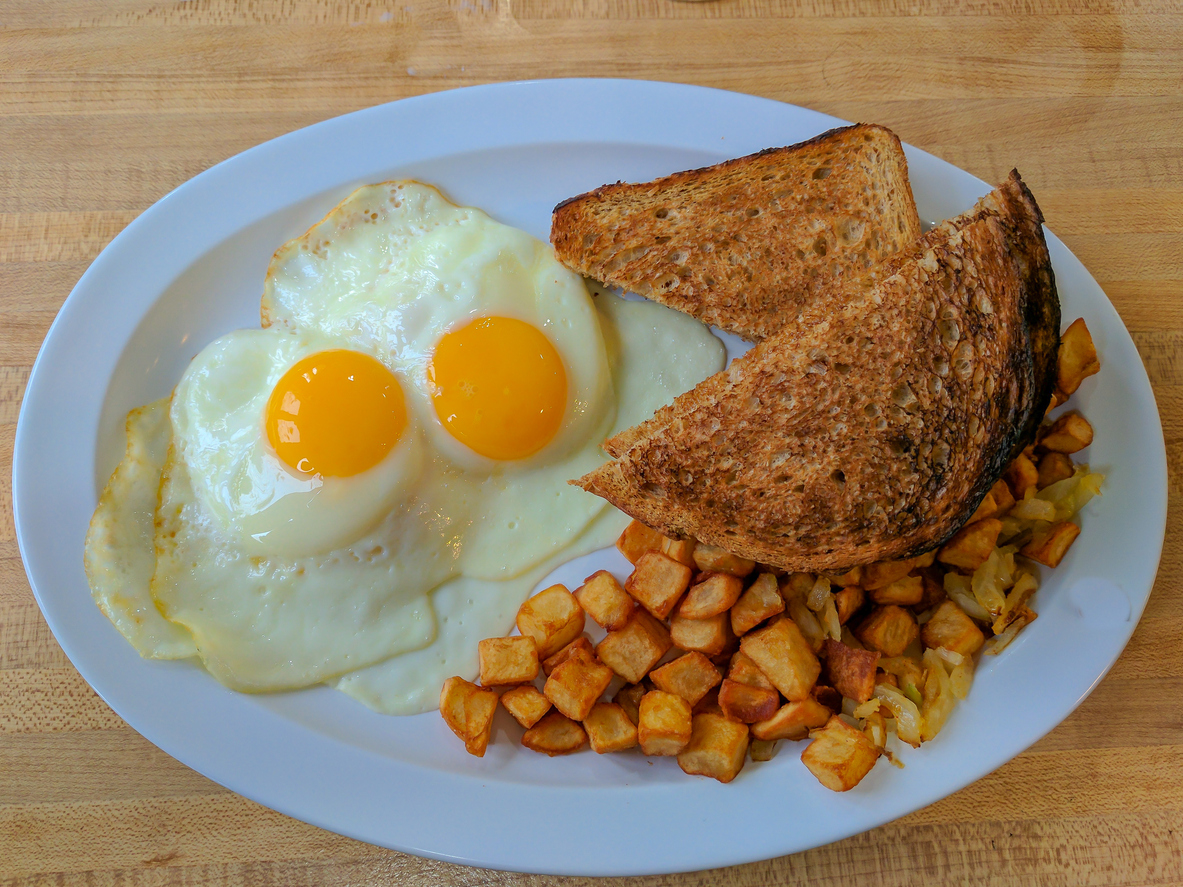 Eggs, Toast, and Hash browns for a Hearty Breakfast