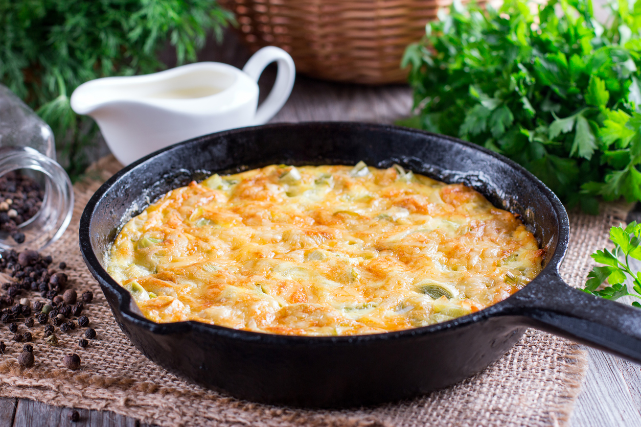 Omelette with Cheese and Leek