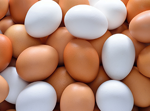 Mixed Brown and White Eggs