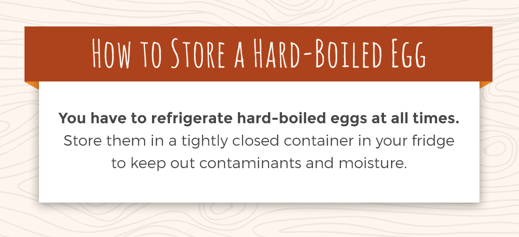 How to Store a Hard-Boiled Egg