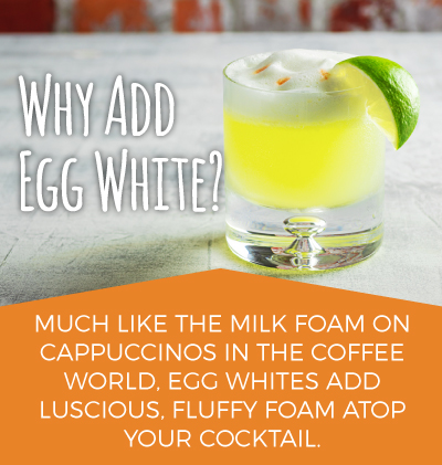 Fluffy Egg White Foam on Cocktails