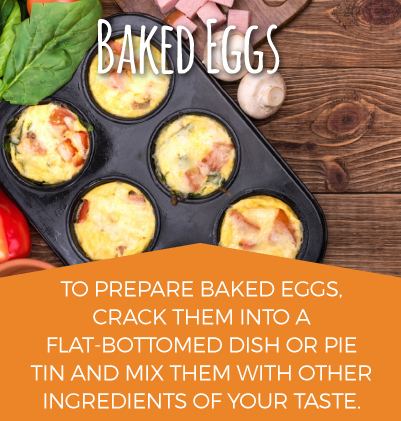 Preparing Baked Eggs
