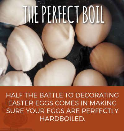 Half the battle to decorating Easter eggs comes in making sure your eggs are perfectly hardboiled