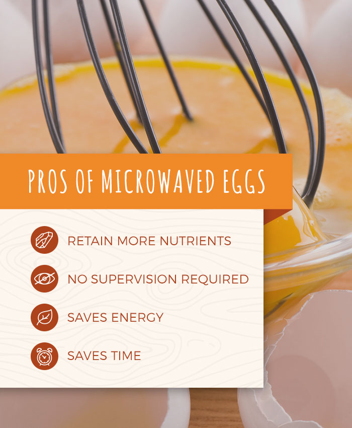 Microwaved eggs retain more nutrients, no supervision is required, and they save energy and time