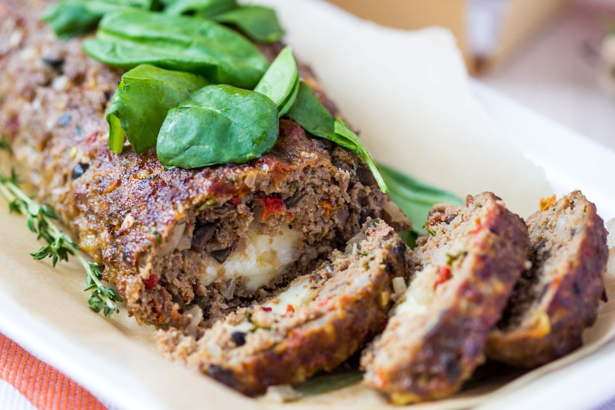 meat loaf with beef and black olives