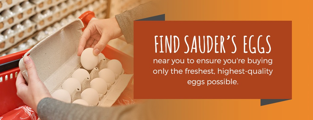 Sauder's sells quality and fresh eggs near you