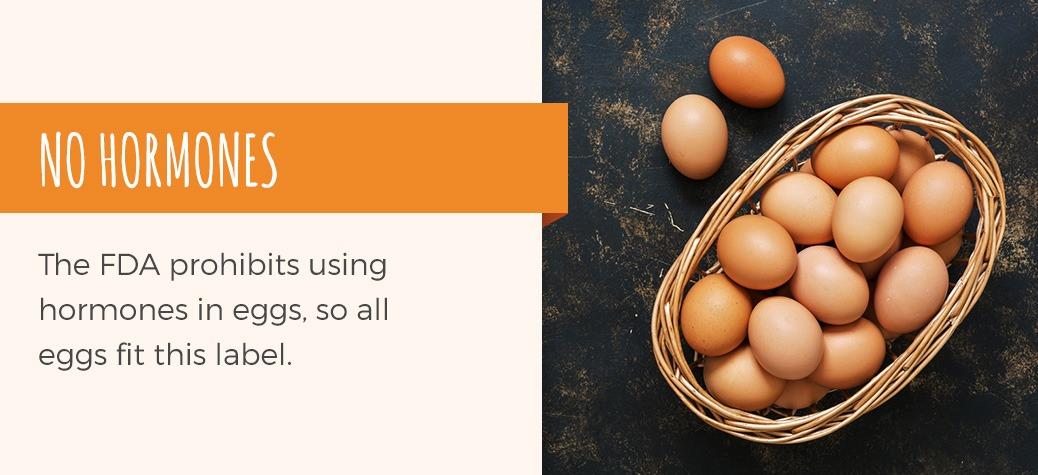 the FDA prohibits using hormones in eggs