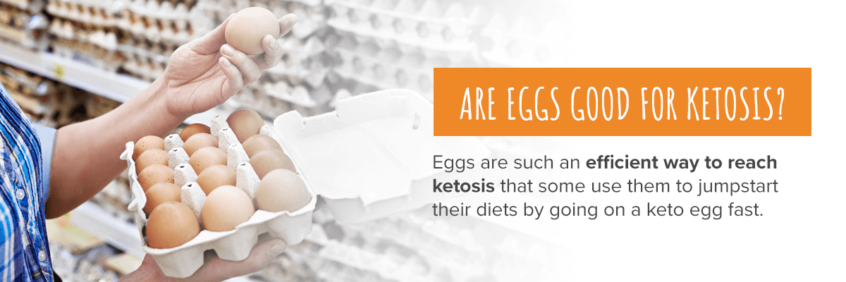 eggs are an efficient way to reach ketosis