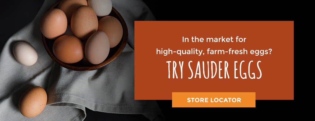 Sauder's double yolk eggs