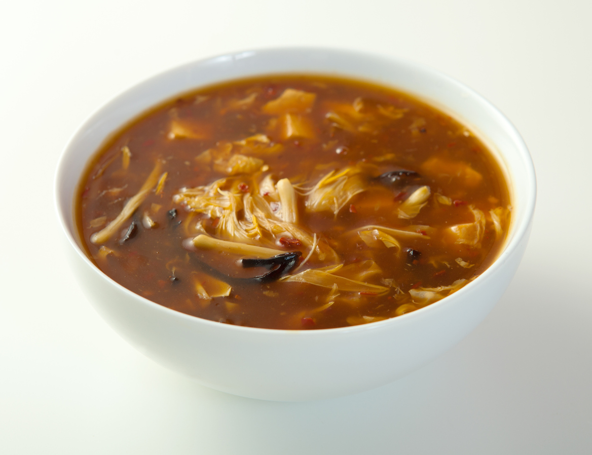 bowl of hot and sour soup
