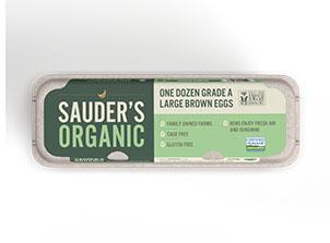 Sauder's Eggs organic large brown eggs carton